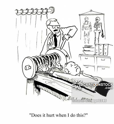 Cartoon: Does it hurt when I do this